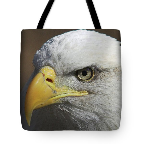 Tote Bag featuring the photograph Eagle Eye by Steve Stuller