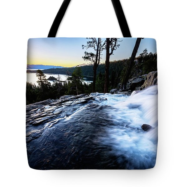 Tote Bag featuring the photograph Eagle Falls At Emerald Bay by John Hight