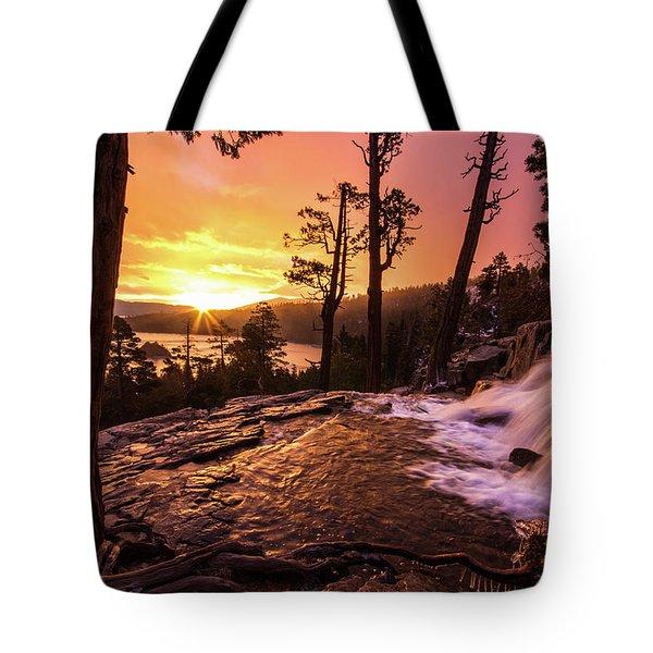 Eagle Falls Sunrise Tote Bag