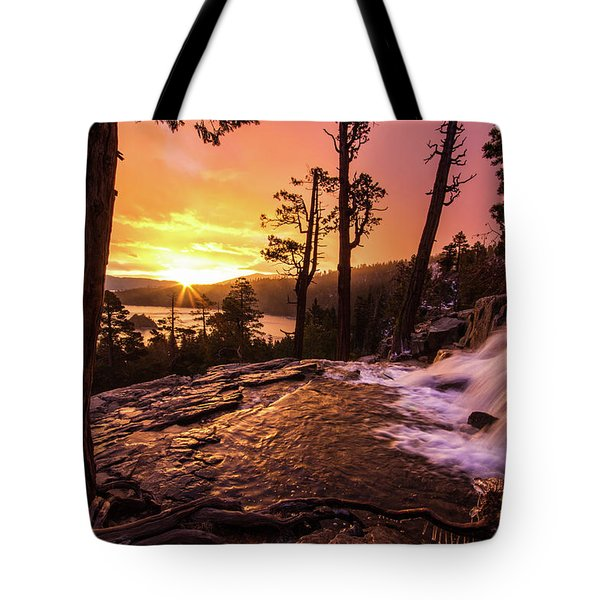 Eagle Falls Sunrise Tote Bag
