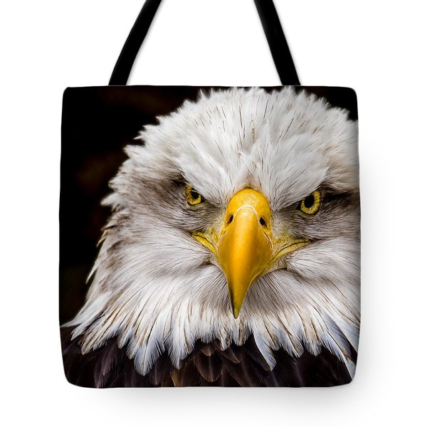 Defiant And Resolute - Bald Eagle Tote Bag