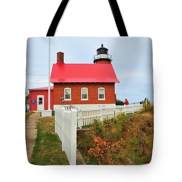 Eagle Harbor Lighthouse Tote Bag