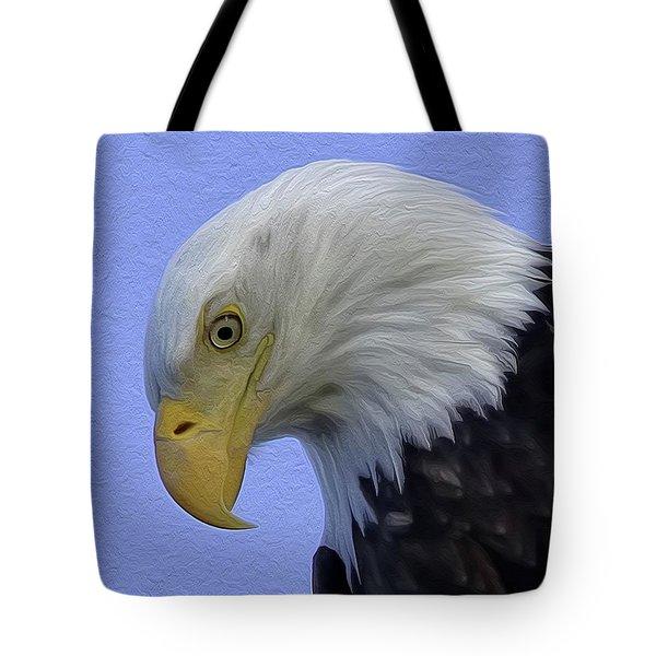 Eagle Head Paint Tote Bag