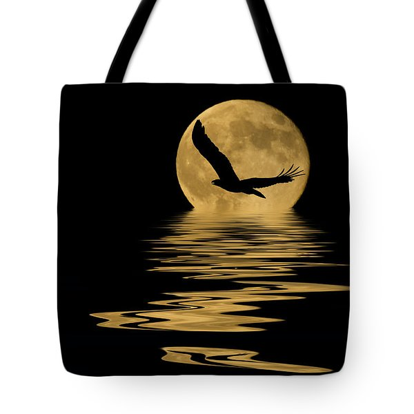 Eagle In The Moonlight Tote Bag