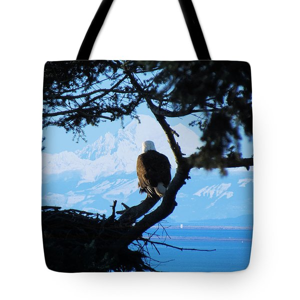 Eagle - Mt Baker - Eagles Nest Tote Bag