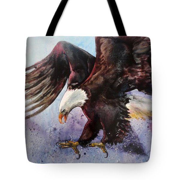 Eagle Of Light Tote Bag