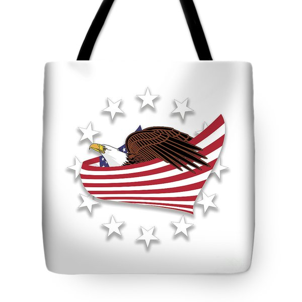 Tote Bag featuring the digital art Eagle Of The Free V1 by Bruce Stanfield
