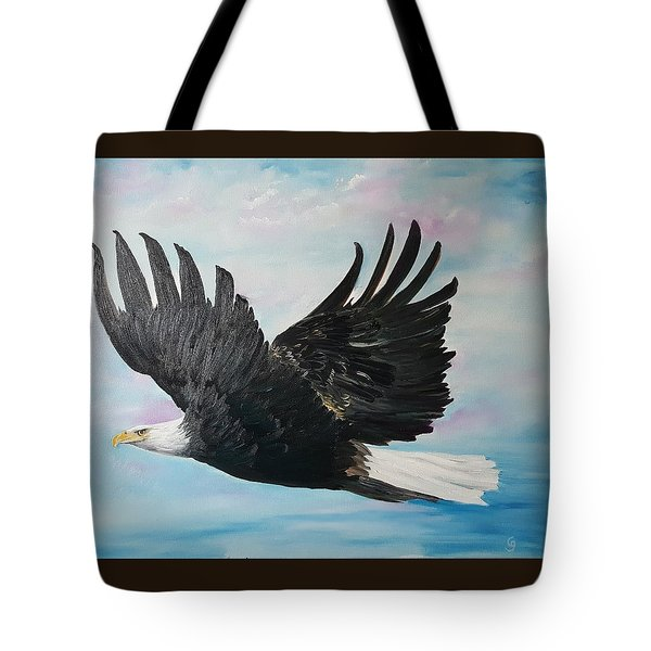 Eagle On A Mission      11 Tote Bag