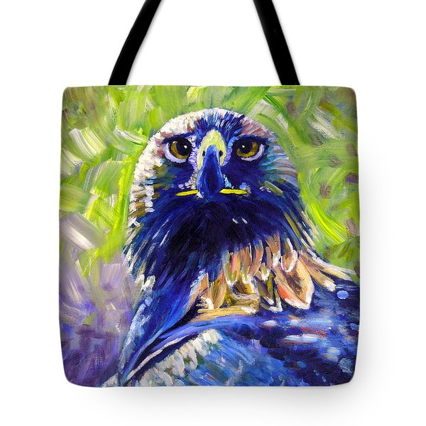 Eagle On Alert Tote Bag