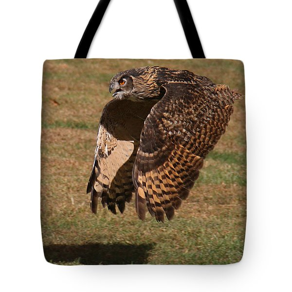 Eagle Owl On The Hunt 2 Tote Bag
