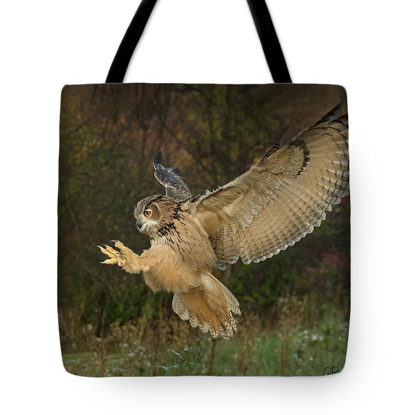 Eagle-owl Wings Back Tote Bag