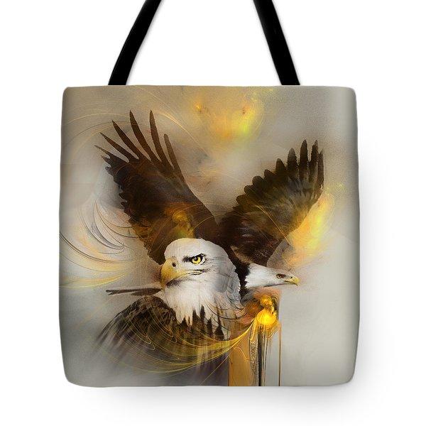 Eagle Pair Tote Bag