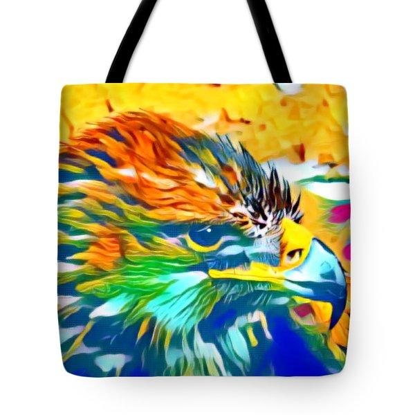 Eagle Pop Art 1 Tote Bag