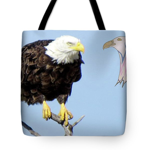 Eagle Reflection Tote Bag