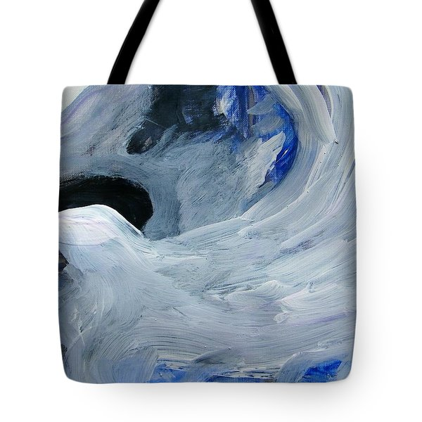 Eagle Riding On Waves Tote Bag