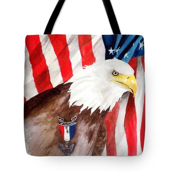 Eagle Scout Tote Bag by Rosalea Greenwood