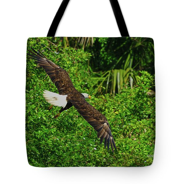 Tote Bag featuring the photograph Eagle Series Flight by Deborah Benoit