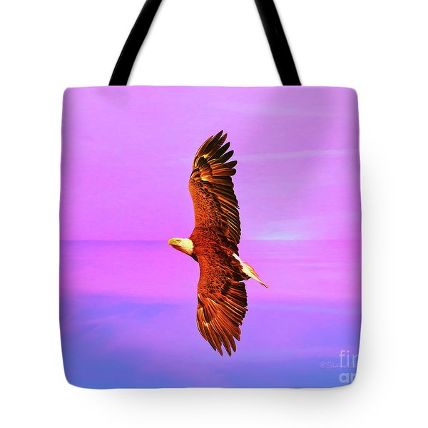 Tote Bag featuring the painting Eagle Series Painterly by Deborah Benoit