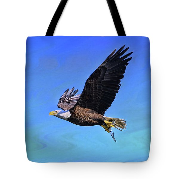 Tote Bag featuring the photograph Eagle Series Success by Deborah Benoit
