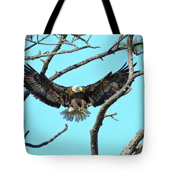 Tote Bag featuring the photograph Eagle Series Wings by Deborah Benoit