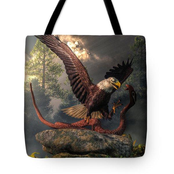 Eagle Vs Cobra Tote Bag