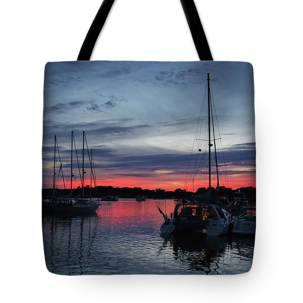 Eagles Cove Sunset Tote Bag