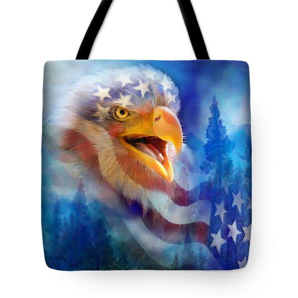 Eagle's Cry Tote Bag by Carol Cavalaris