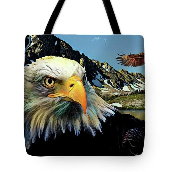 Eagles Lake Tote Bag