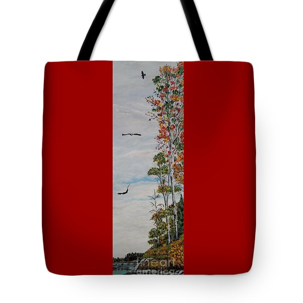 Eagles Point Tote Bag by Marilyn  McNish
