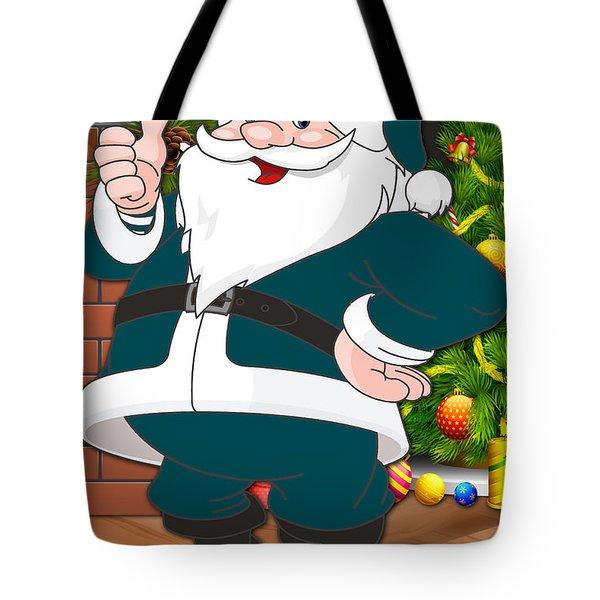 Eagles Santa Claus Tote Bag