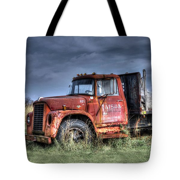 Tote Bag featuring the photograph Earl Latsha Lumber Company Version 2  by Shelley Neff