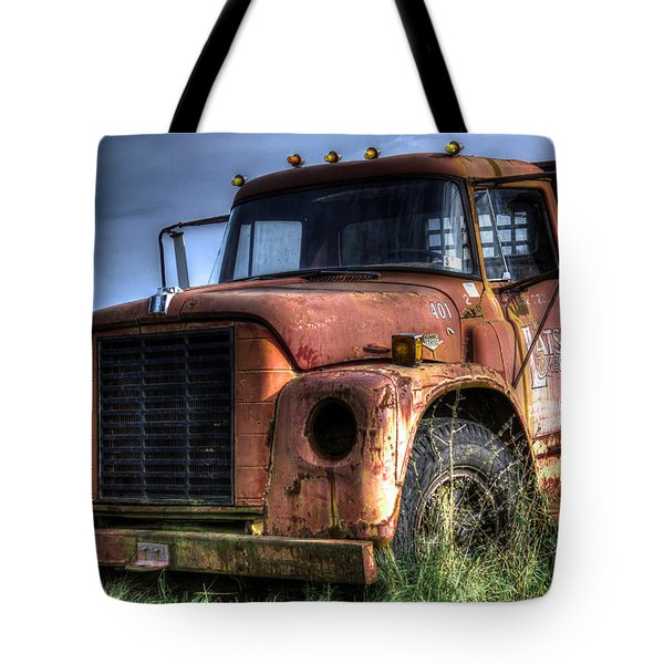 Tote Bag featuring the photograph Earl Latsha Lumber Company Version 3 by Shelley Neff