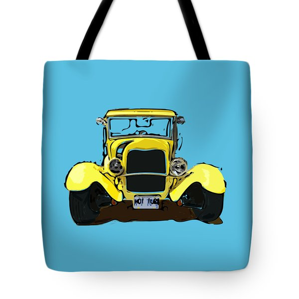 Early 1930s Ford Yellow Tote Bag