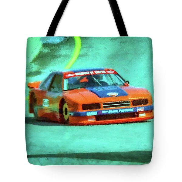 Early 1980s Mercury Capri Scca Trans-am Racer Tote Bag by Ken Morris
