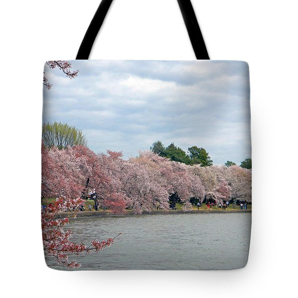 Early Arrival Of The Japanese Cherry Blossoms 2016 Tote Bag