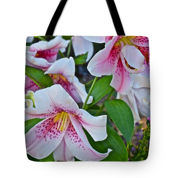 Early August Tumble Of Lilies Tote Bag