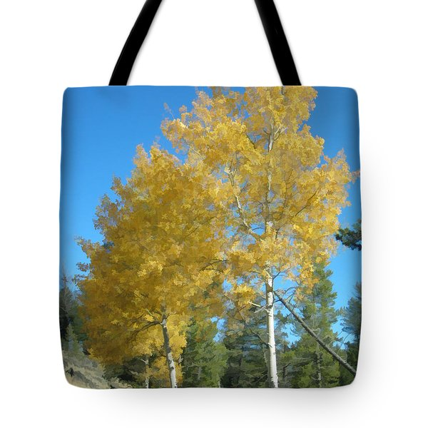 Early Autumn Aspens Tote Bag