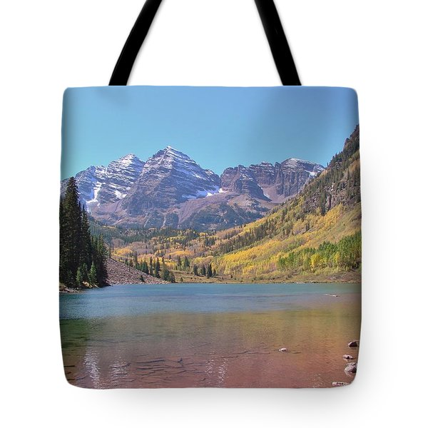 Early Autumn At The Bells Tote Bag by Margaret Bobb