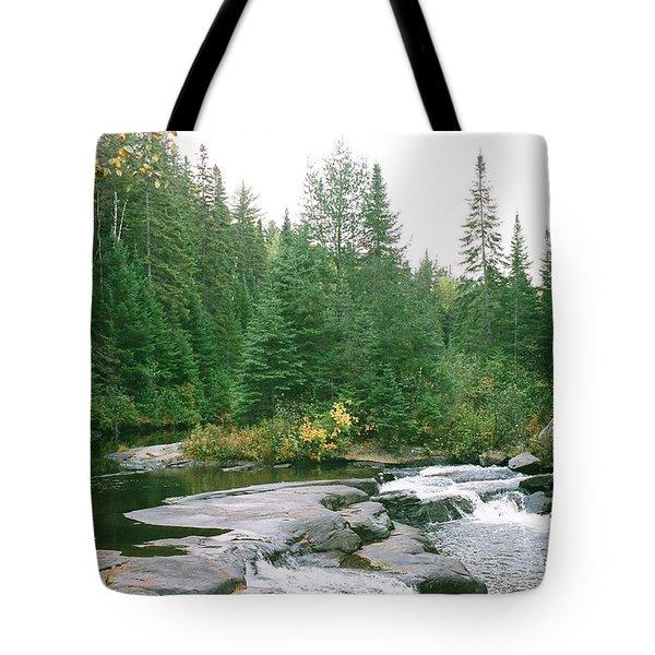 Early Autumn On The Madawaska River Tote Bag