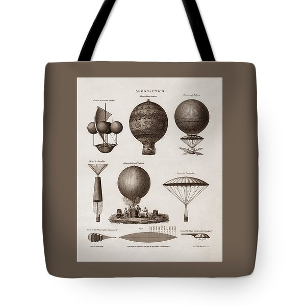 Early Balloon Designs Tote Bag