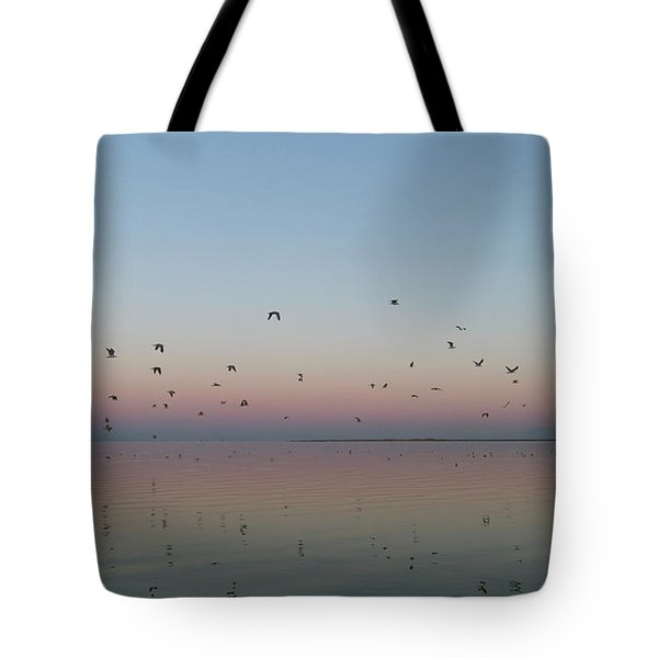 Tote Bag featuring the photograph Early Birds by Rico Besserdich