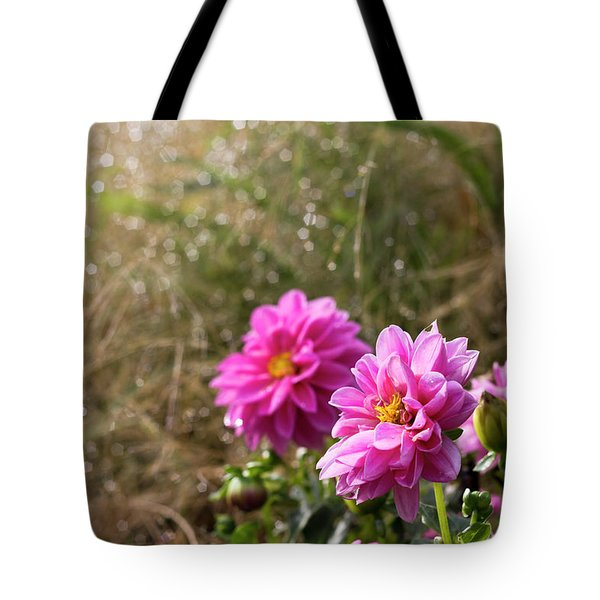 Tote Bag featuring the photograph Early Breath by Helga Novelli