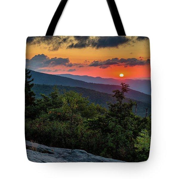 Blue Ridge Parkway Sunrise - Beacon Heights - North Carolina Tote Bag