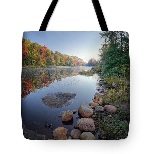 Early Color On Bald Mountain Pond Tote Bag