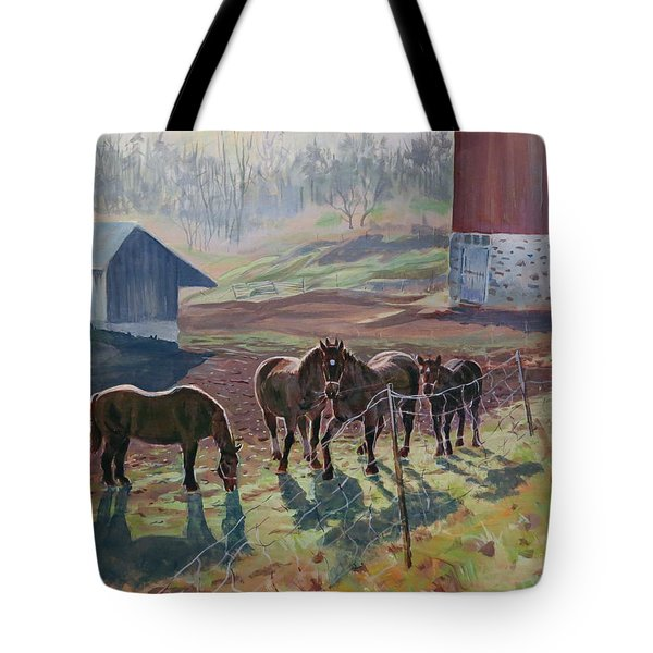 Early December At The Farm Tote Bag