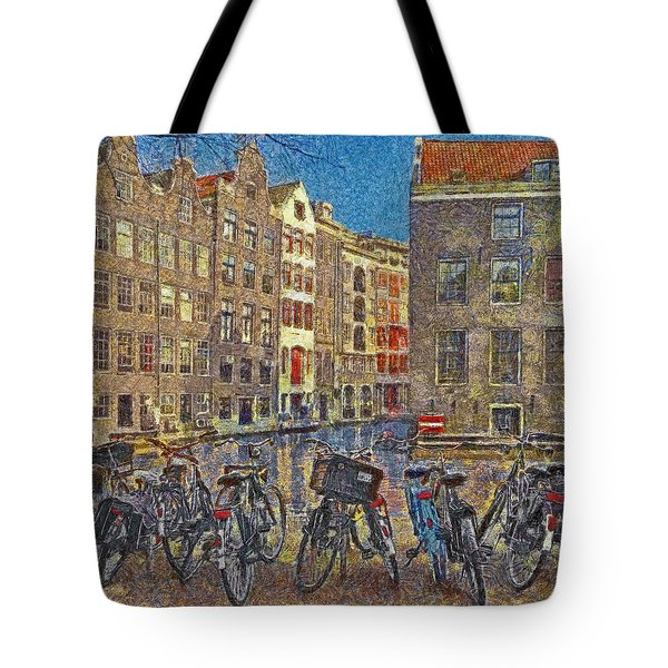 Early Evening Along An Amsterdam Canal Tote Bag