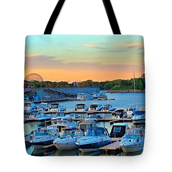 Early #evening At The Old #port Of Tote Bag