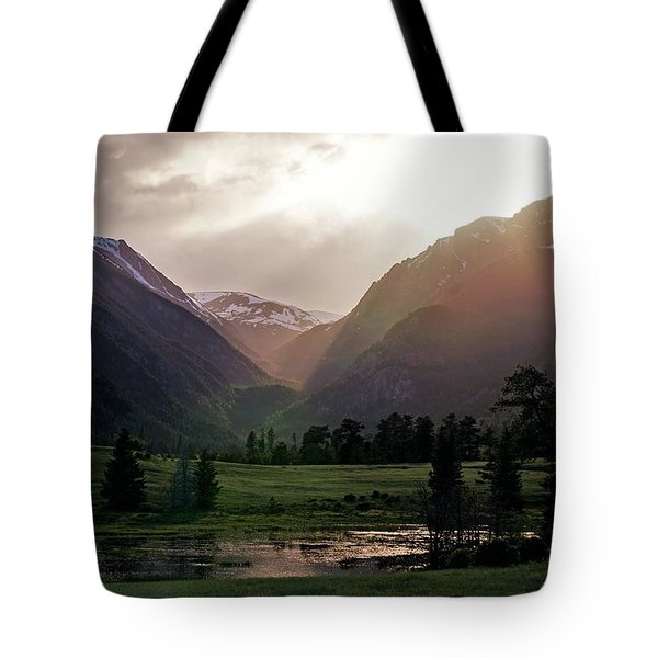 Early Evening Light In The Valley Tote Bag