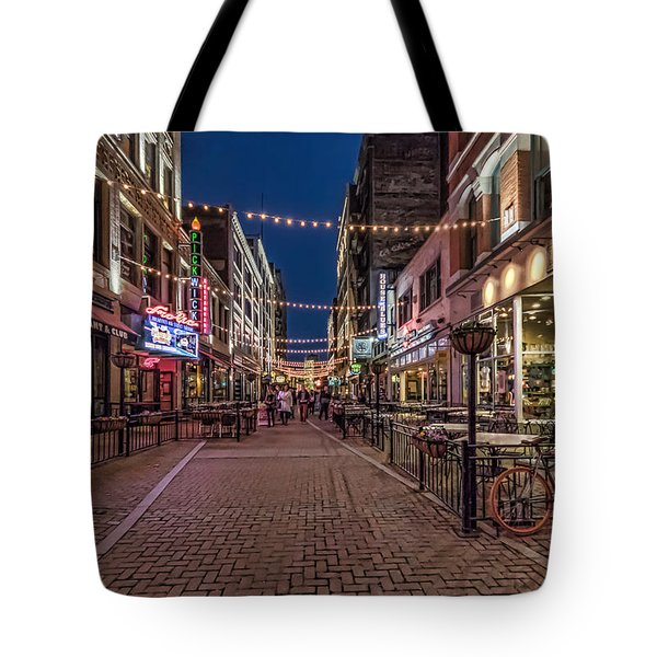 Tote Bag featuring the photograph Early Evening On E. 4th by Brent Durken
