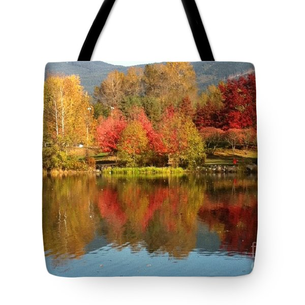 Early Fall At Lafarge Lake Tote Bag by Rod Jellison